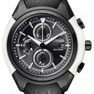 Citizen Chromograph black & white- The Posh Watch Shop
