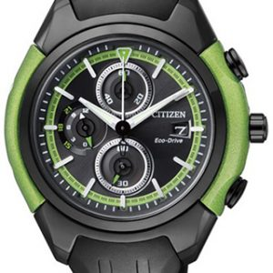 Citizen Chromograph green & black - The Posh Watch Shop
