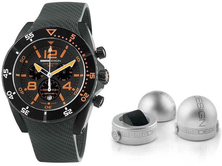 Momo design mod dive master sport orange white black rubber strapped the posh watch shop - Momo design dive master ...