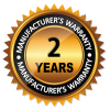 2 Year Manufacturers Warranty