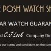 The Posh Watch Shop Two Year Guarantee Card